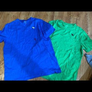 Lot of 2 boys Abercrombie tees, youth XL.